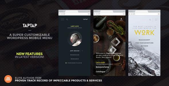Free Download TapTap V2.4 A Super Customizable WordPress Mobile Menu