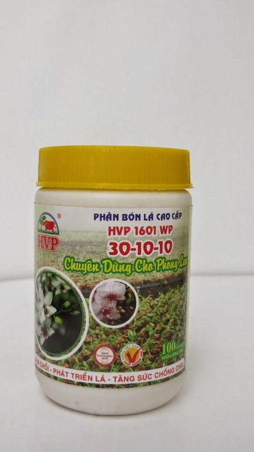 Phân bón lá 1601wp Phong lan (30-10-10)