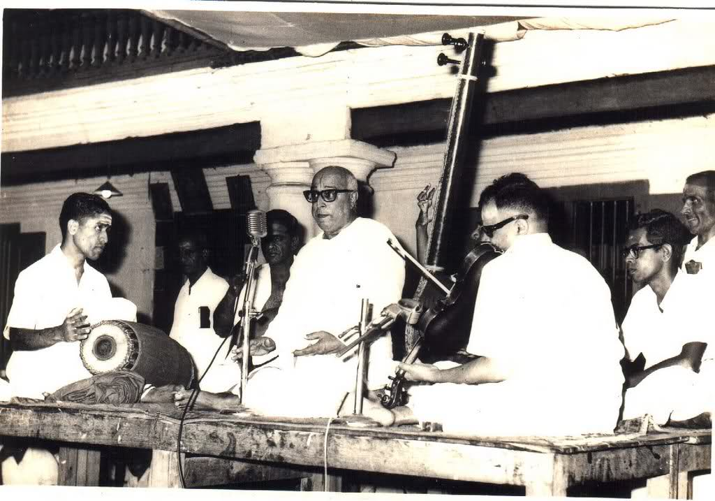 T. K. Rangachari in concert with M. Chandrasekharan and Trichy Sankaran