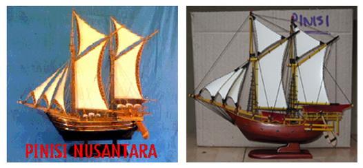 Miniatur kapal Pinisi, Miniatur kapal Pinisi Bugis Makasar