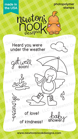 Spring Showers Stamp Set  | Newton's Nook Designs