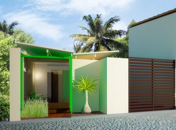 Casas hechas de contenedores mar timos ecovert domus verde - Diseno de contenedores ...