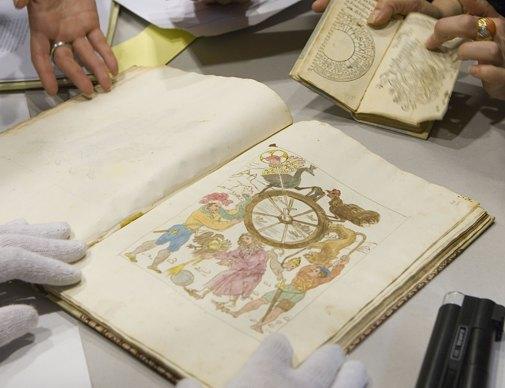 Nostradamus Tarot Lost Tarot Cesar Vaticinia Nostradami Nostredame Lost Book หนังสือ สูญหาย สาบสูญ นอสตราดามุส ไพ่ทาโรต์ ไพ่ Wheel of Fortune ไพ่นอสตราดามุส ทำนาย โลก