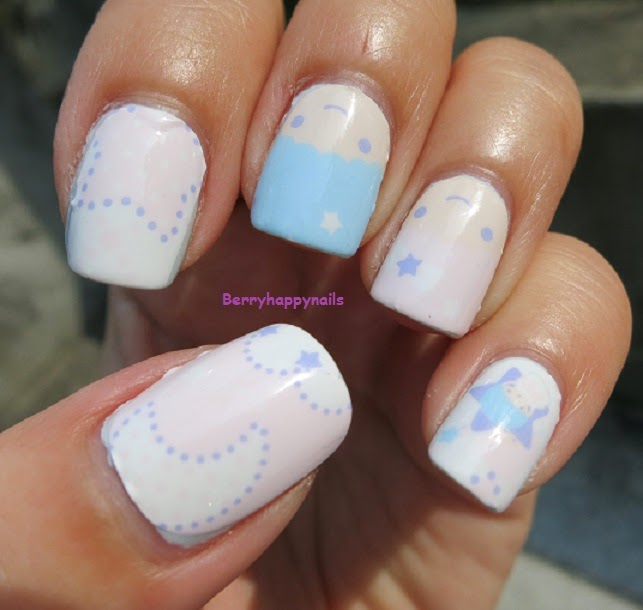 happyberrynaiad: Nail Art Weekend: Little Twin Stars Nail Foils Part II