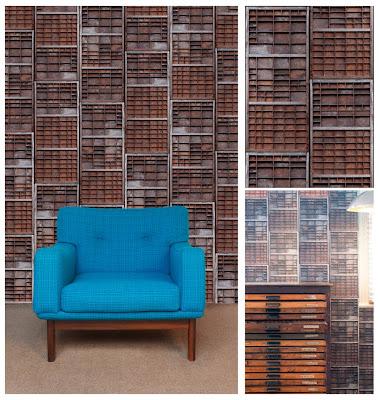 Letterpress wallpaper by Ella Doran featured by World Architecture News