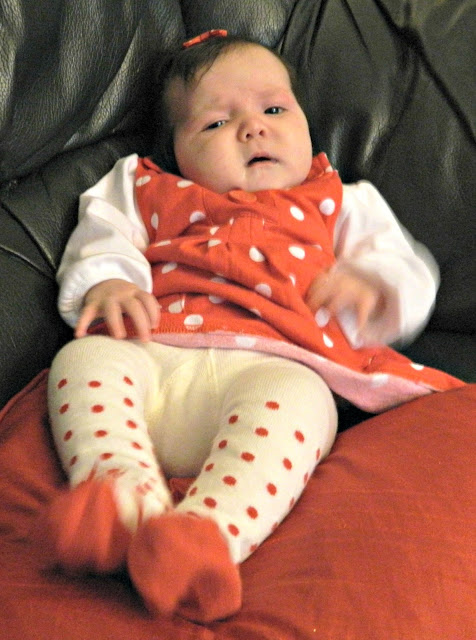 Baby Girl Polka Dots Red