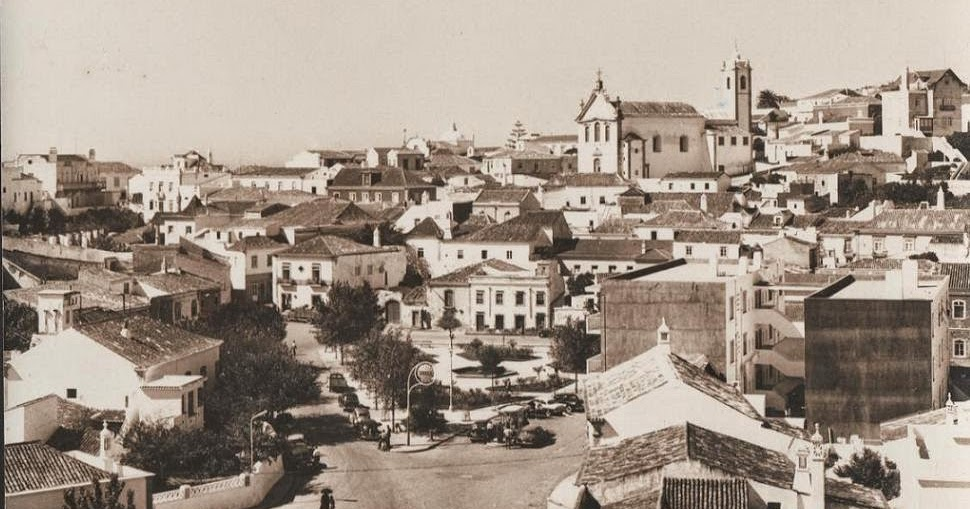 Albufeira Postal Anos 1950s Algarve on 1950s postcards