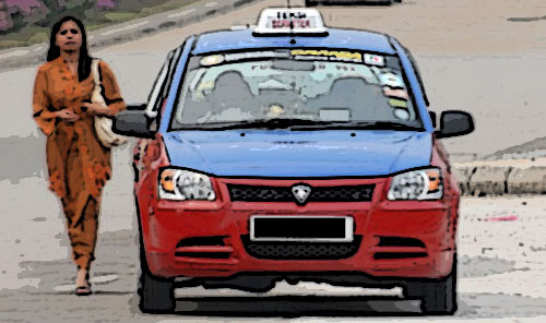 Mat Sabut diminta bawak teksi kat KL....