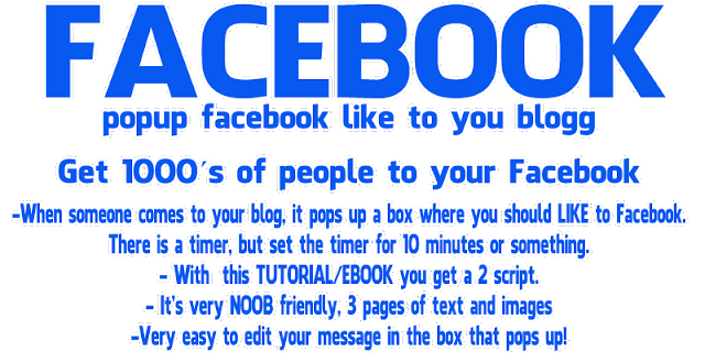 wer FACEBOOK LIKE POPUP BOX for Blogspot