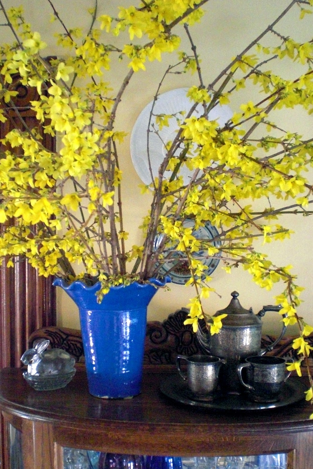 pruning and although not native i do love this shrub come spring especially when i can use any left over clippings for cheerful spring arrangements - Forsythia Arrangements