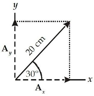 sumbu-x positif vektor