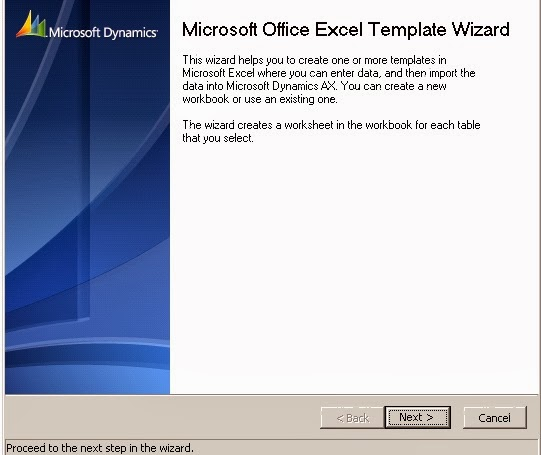 Microsoft Office Excel Template Wizard