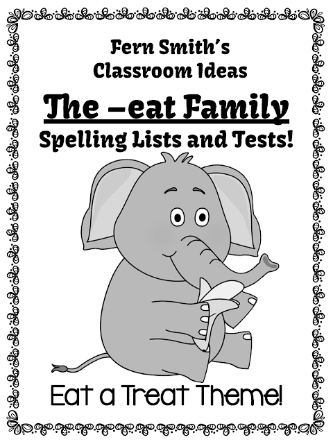 Fern Smith's Classroom Ideas The -eat Family Spelling {Word Work} Lists & Tests to Download for Classroom Teachers! Available at my TeacherspayTeachers store. {TPT}