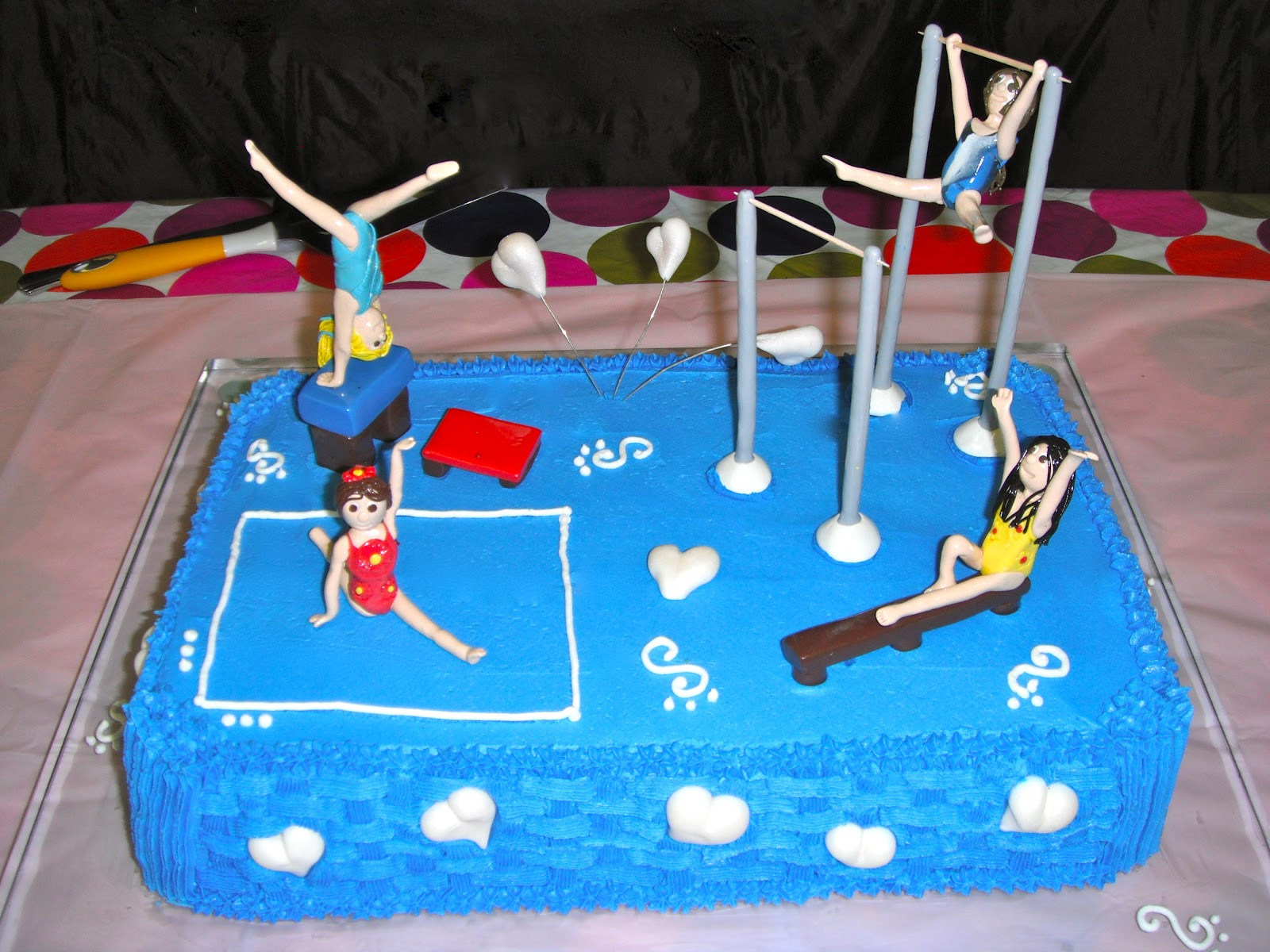 Cake Decorating Ideas Gymnastics : P-ART-Y: How to make a Gymnastics Cake