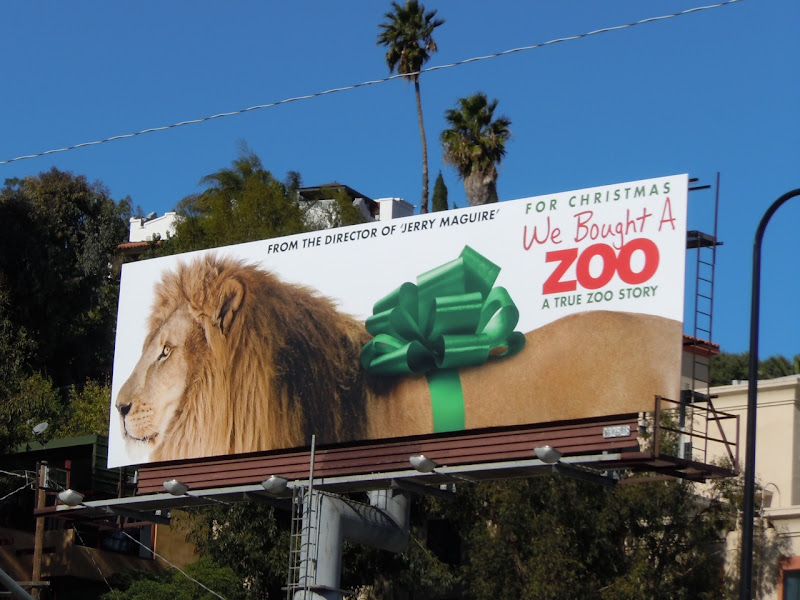 We Bought a Zoo lion billboard