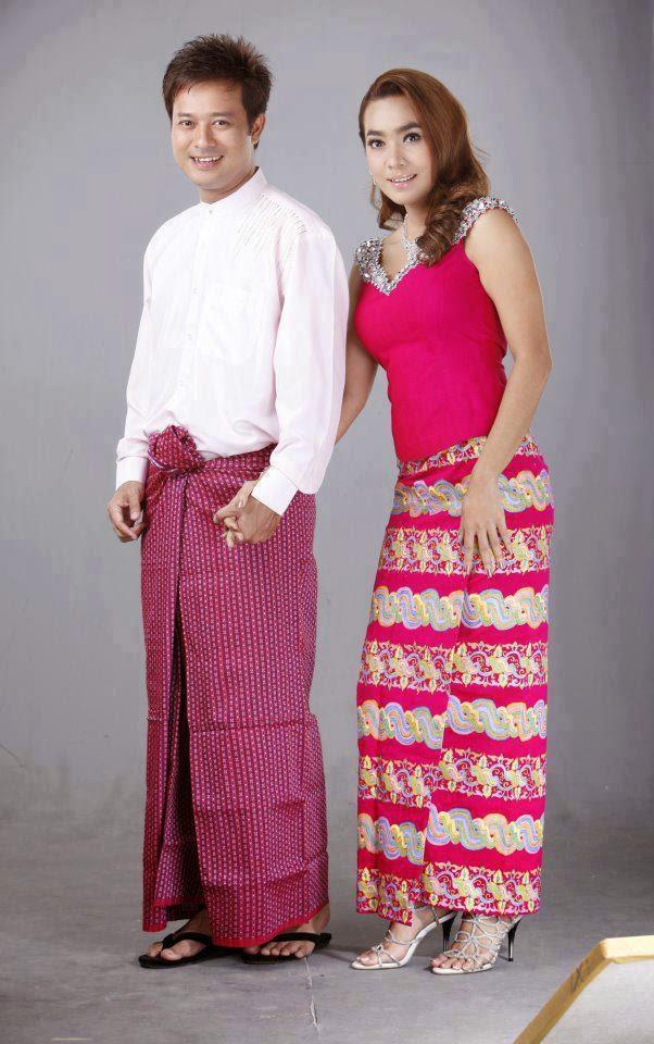 Myanmar traditional traditional dress myanmar fashion fashion dress - Myanmar Moe Hay Ko Amp Pyay Ti Oo With Typical Traditional