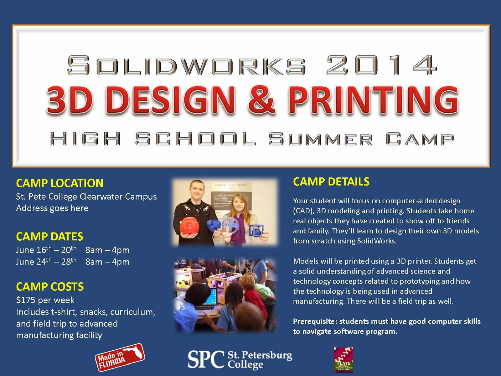3D Design & Printing High School Summer Camp