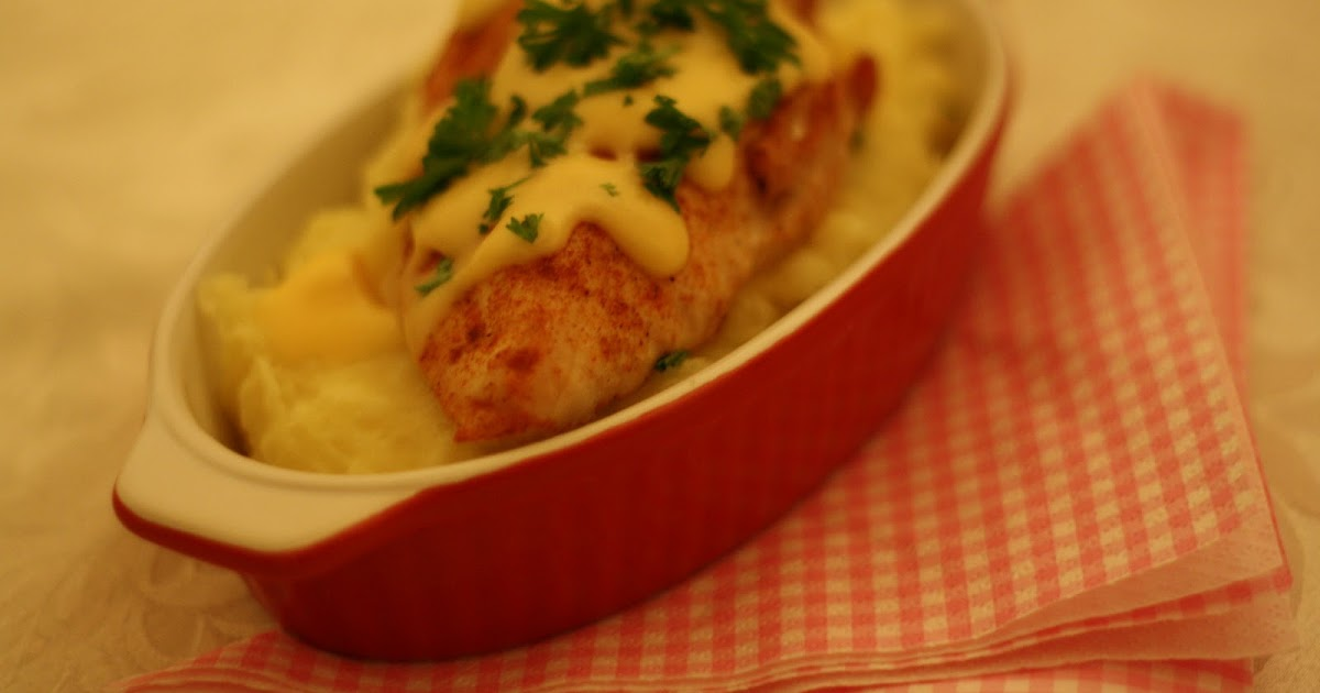 ... opskrifter: Chicken with Cheddar/Beer Sauce over Mashed Potatoes