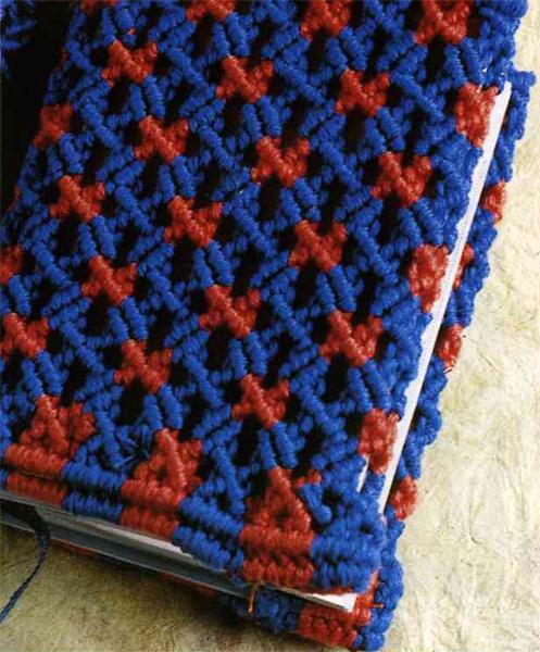 Самодельная плетеная обложка для книги