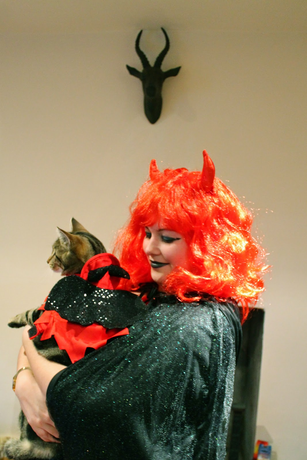 Cat devil costume