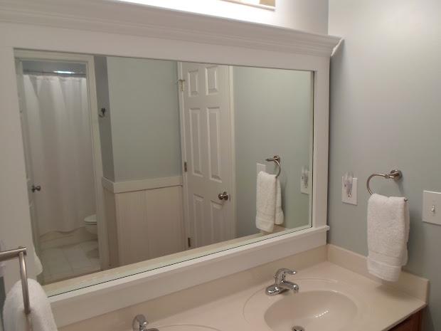 A Frame Bathroom Mirror with Clips