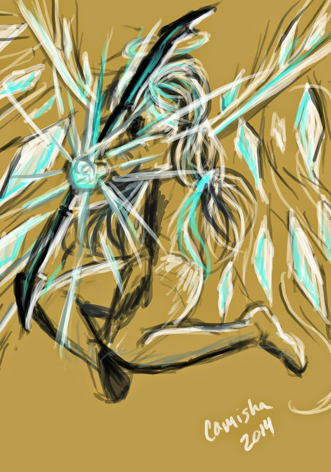 30 minute gesture drawing of an angelic archer
