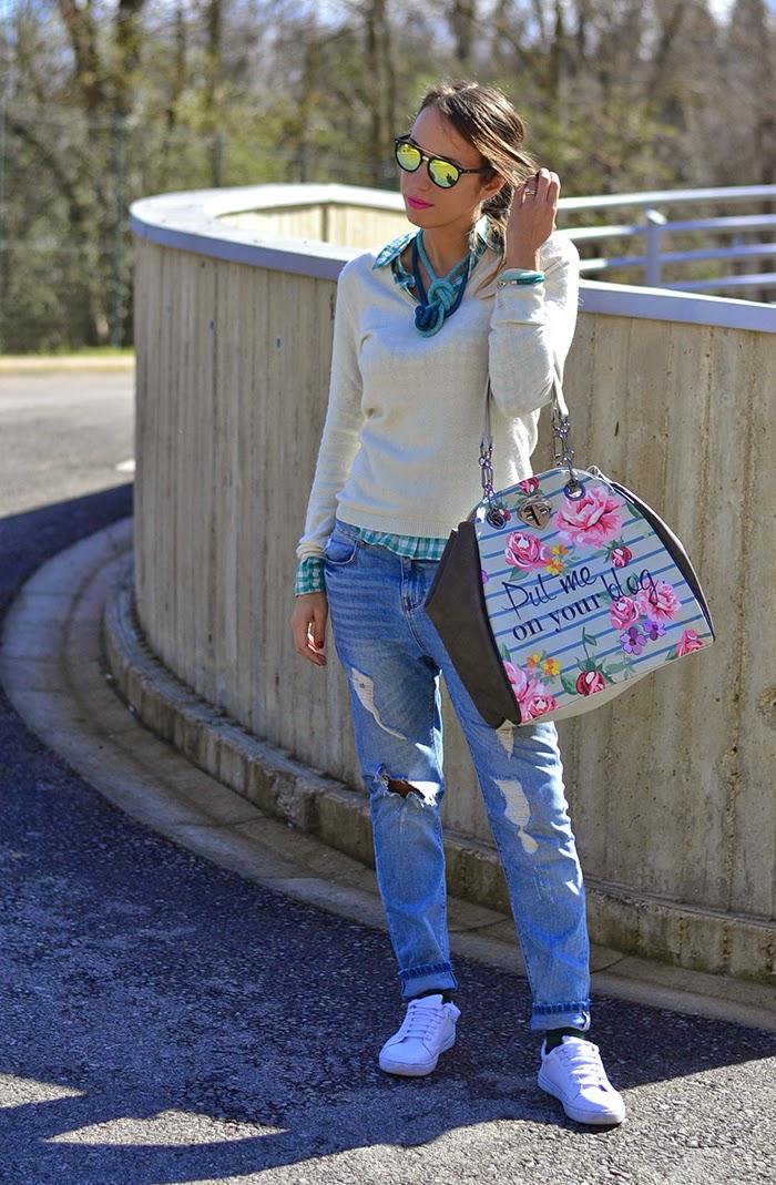 jeans boyfriend strappati