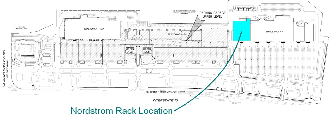 Nordstrom Rack 'Fountains' Location Details
