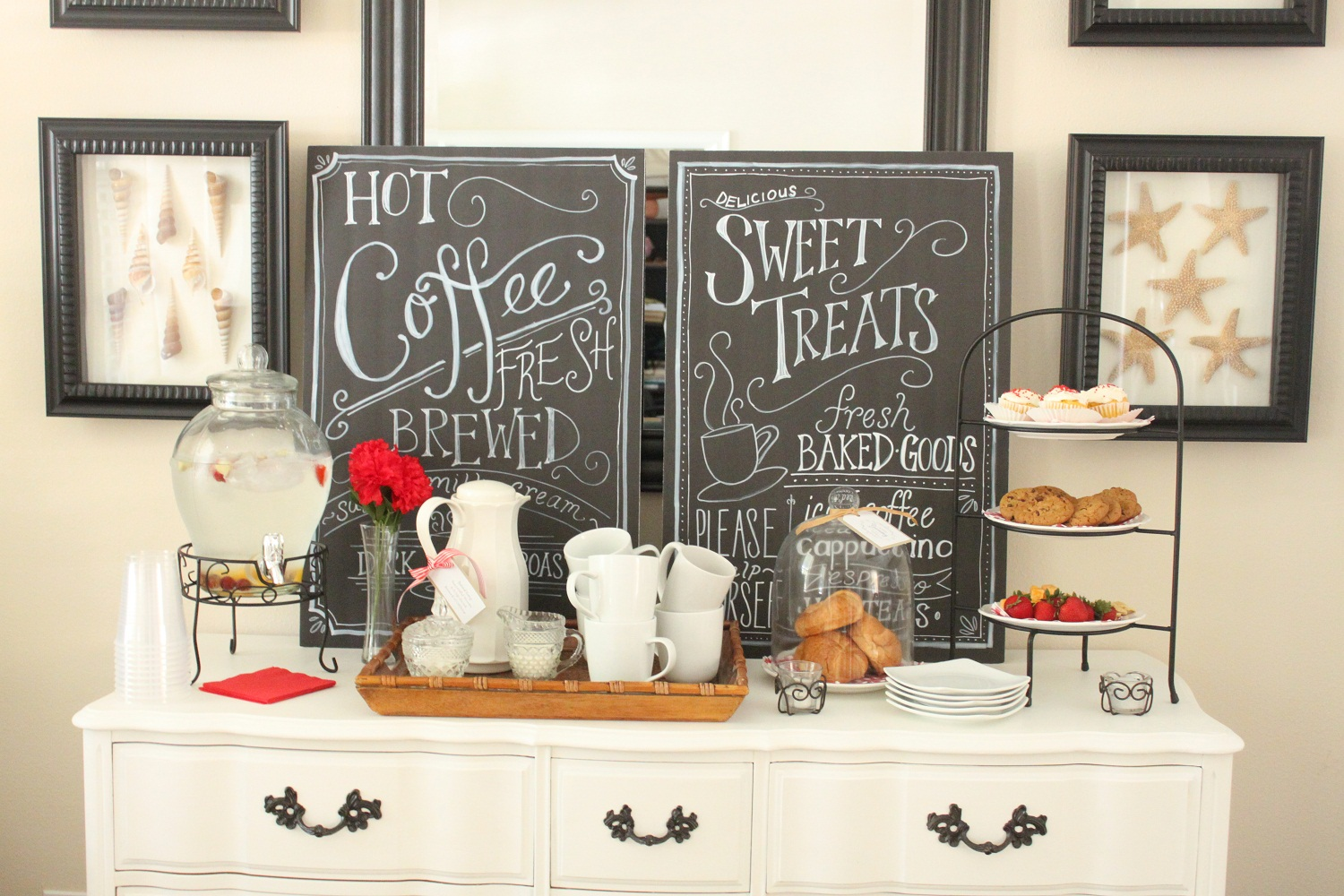 Create your own coffee bar coffee corner imchacha for Coffee bar design ideas