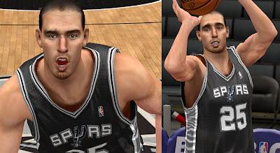 NBA 2K13 Nando De Colo Cyber Face Mod