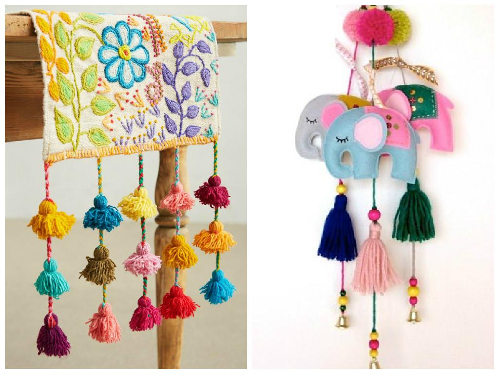 Bonitas manualidades con borlas hechas a mano cositasconmesh - Como hacer borlas de hilo ...