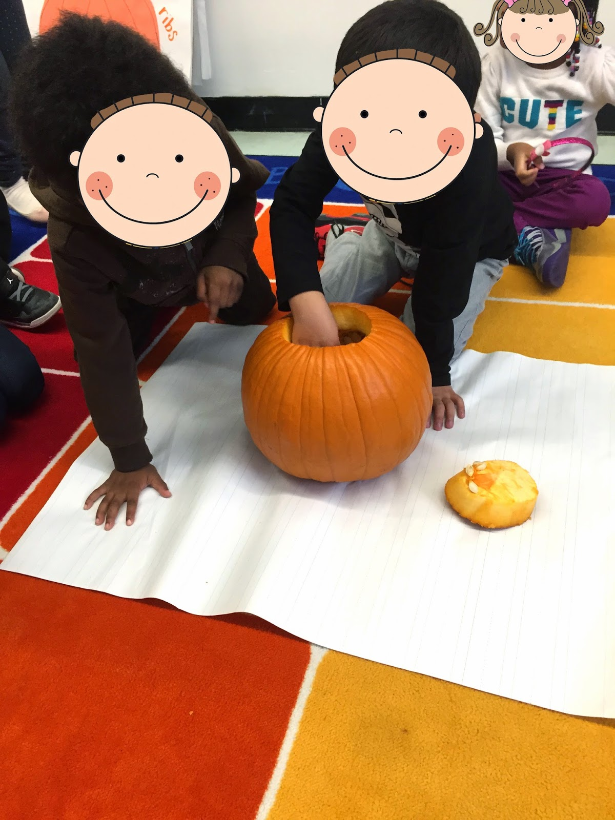 Mrs Riccas Kindergarten Pumpkins And Apples Leaves Oh My Diagram Of A Pumpkin We Wrote Words To Describe The Made Then Each Got Our Own Mini Nonfiction Books About In