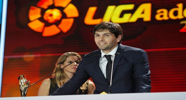 Germán Lux fue elegido mejor arquero de la Liga Adelante 2013/14
