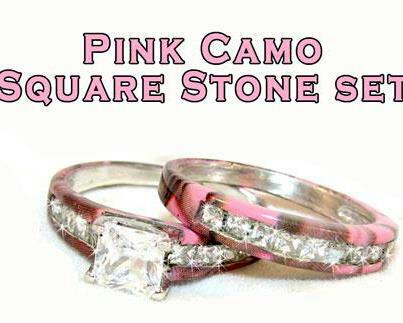 i understand trying to make hunting and camo more appealing to women by incorporating pink - Pink Camo Wedding Rings For Her