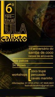 FESTIVAL LULA CALIXTO, MARATONA CULTURAL EM ARCOVERDE