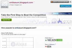 ranking alexa blog