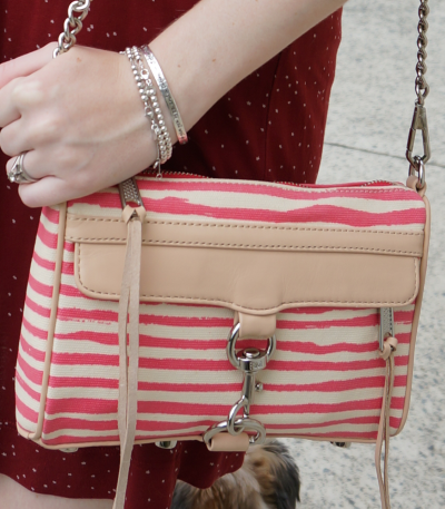 Rebecca Minkoff canvas stripe mini MAC bag