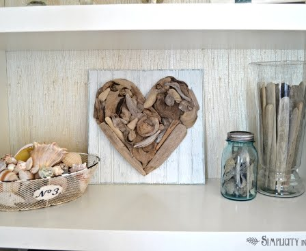 Make a driftwood heart coastal decor ideas and interior for Driftwood crafts to make