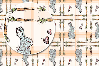 Bunny Surface Design Pattern