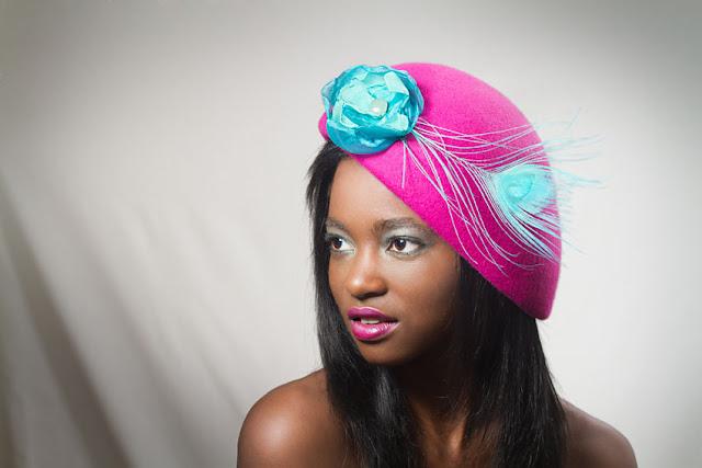 boina sombrero rosa belle de jour oju illa