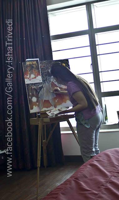 """Painting ROCKSTAR by Isha Trivedi """"Isha Trivedi"""""""