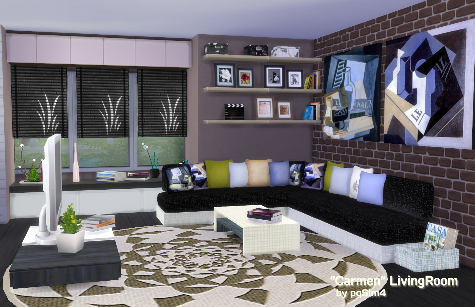 Bargain Hunt sims 2 living room set walls and