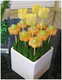 decorar con ramos de fruta