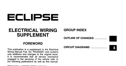 Wiring Diagram For 1995 Mitsubishi Eclipse : Wiring diagrams and free manual ebooks mitsubishi