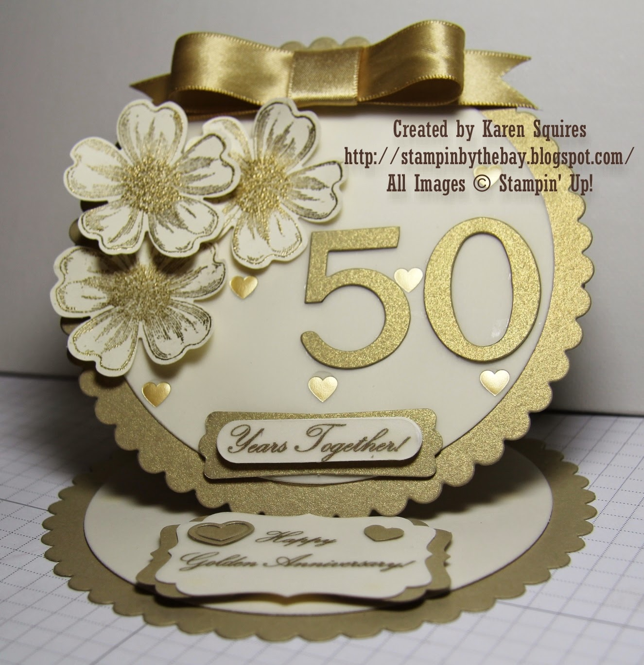 Stampin By The Bay Happy 50th Wedding Anniversary Mom Amp Dad