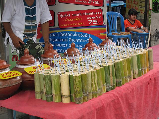 10 fotos de copos e canecas de bambu