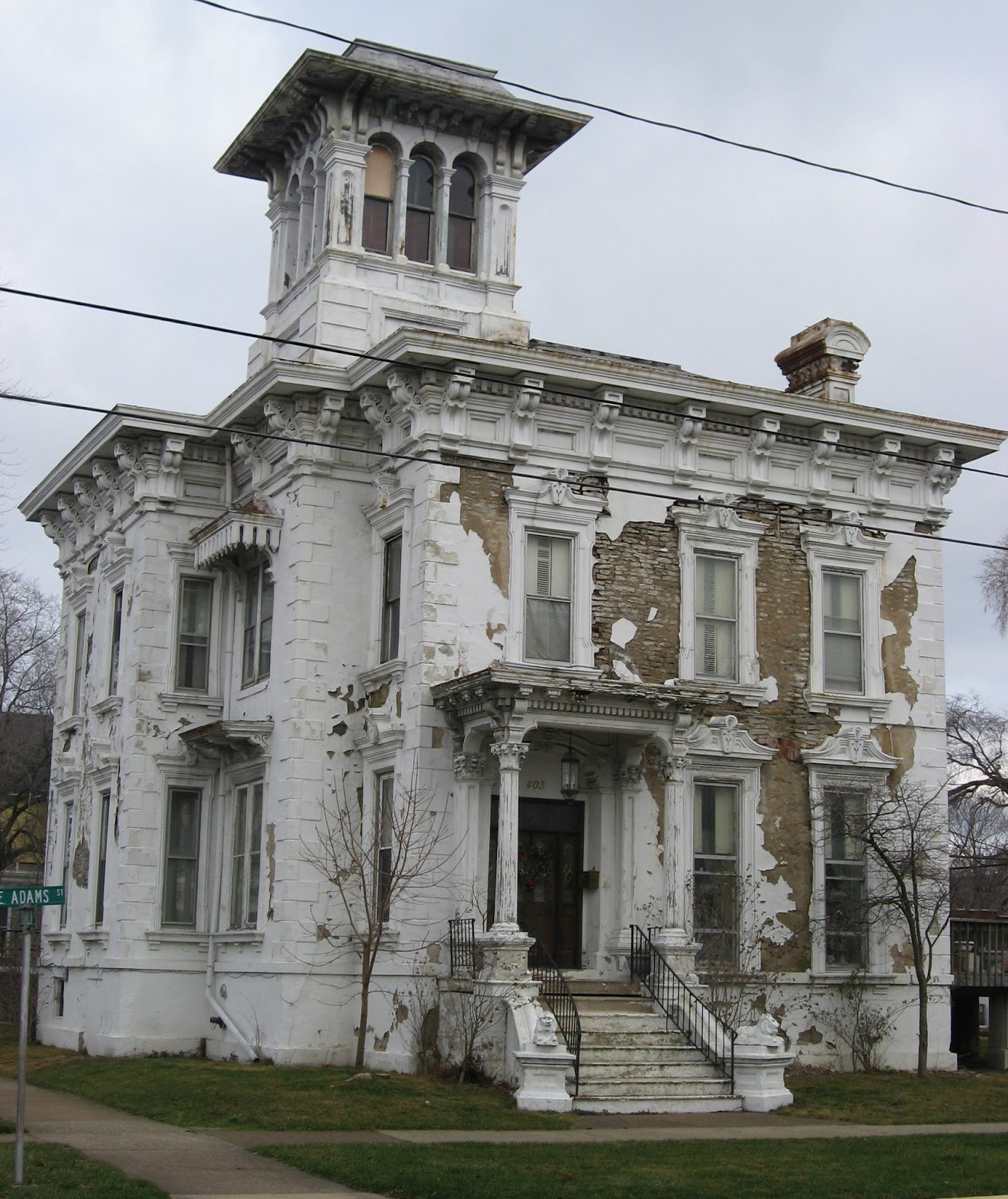 The picturesque style italianate architecture the rush r for House turret designs