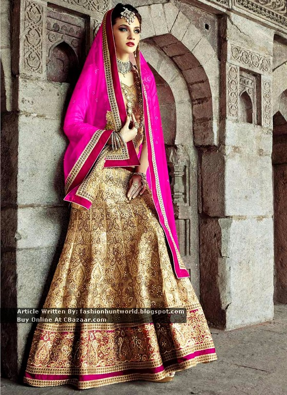 Latest Embellished Wedding Lehengas Collection 2015