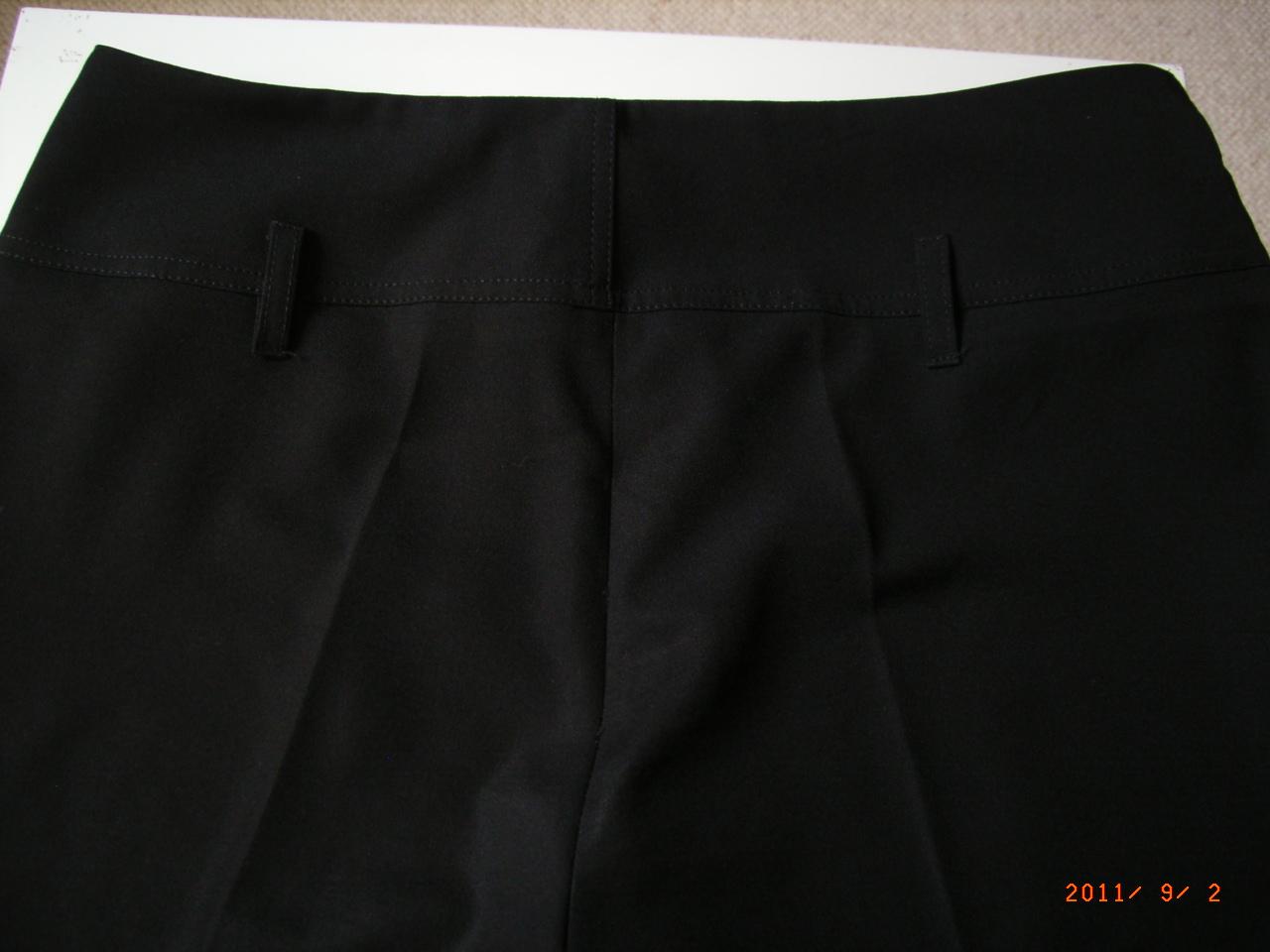 marque pas cher vide dressing Flora : TARA JARMON – Pantalon noir coupe droite – T42