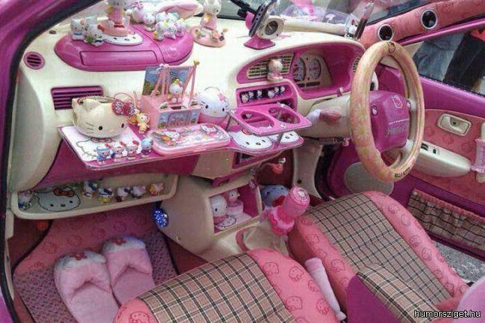 Foto Interior Mobil Hello Kitty Gambar Lucu Terbaru Hello Kitty